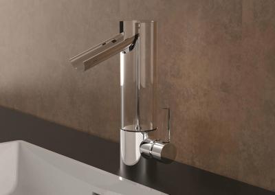 Mitigeur-lavabo-Flower-salle-de-bain-chrome-moderne-design