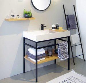 tendance-industrielle-meuble-salle-de-bain-laque-mat-steel