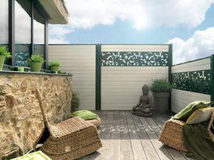 cloture pour jardin ecran bois composite