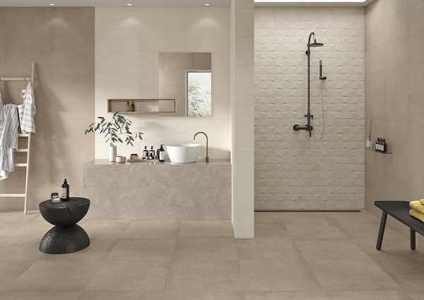 Tendance Contemporaine Carrelage mur de salle de bain